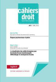 Cahier du droit luxembourgeois n°15