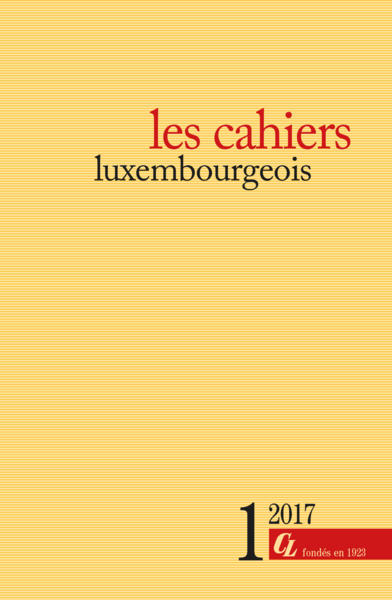 les cahiers luxembourgeois - 1/2017